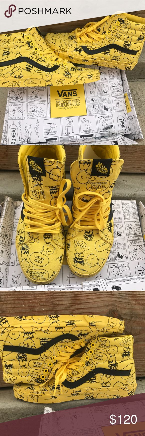 Vans sk8-highs peanuts. Brand new with tags. Comes with original box. I have a few sizes available. 10.5 and 11 in men's. $120 each Vans Shoes Sneakers