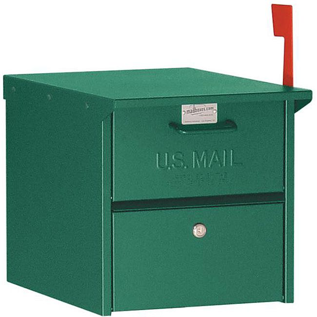 This Salsbury mailbox is made entirely of aluminum and is USPS-approved. The 4300 series mailbox features both front and rear access locking door.