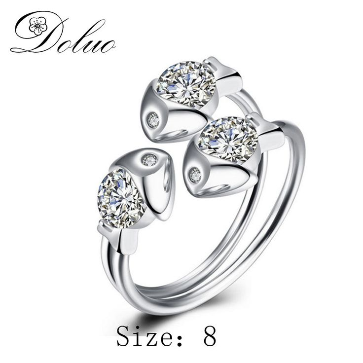Cheap silver ring, Buy Quality ring for directly from China s925 ring Suppliers: Fashion creative three fish zircon s925 silver ring female S925 ring for Gift Jewelry