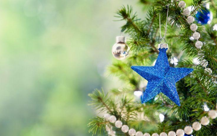 Blue star Christmas tree wallpaper| merry christmas 2014