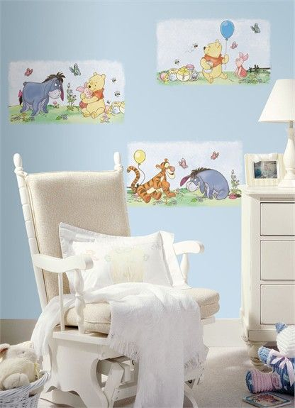 Rosenberry Rooms has everything imaginable for your child's room! Share the news and get $20 Off  your purchase! (*Minimum purchase required.) Winnie the Pooh Panel Peel & Stick Wall Decals #rosenberryrooms