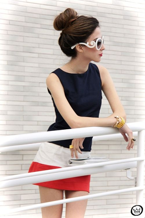 prada red white sunglasses