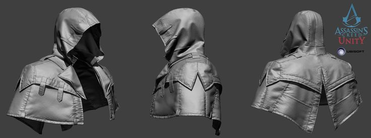 Assassin's Creed Unity - Arno hood V4 - ZBrush, Vince Rizzi on ArtStation at http://www.artstation.com/artwork/assassin-s-creed-unity-arno-hood-v4-zbrush