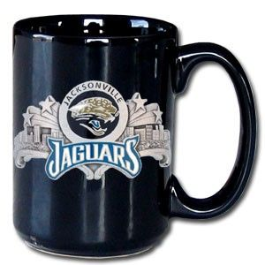 """Checkout our #LicensedGear products FREE SHIPPING + 10% OFF Coupon Code """"Official"""" NFL Coffee Mug - Jacksonville Jaguars - Officially licensed NFL product Licensee: Siskiyou Buckle    Jacksonville Jaguars - Price: $30.00. Buy now at https://officiallylicensedgear.com/nfl-coffee-mug-jacksonville-jaguars-fm175"""