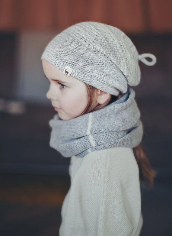 Melange  hat / alpaca wool slouchy beanie / oversized by Ingugu