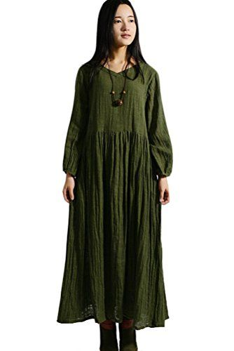 Mordenmiss Women's Maxi Dress Spring Travel Clothing Green Mordenmiss http://www.amazon.com/dp/B00SAFDL4O/ref=cm_sw_r_pi_dp_FQNlwb1E0XTF7