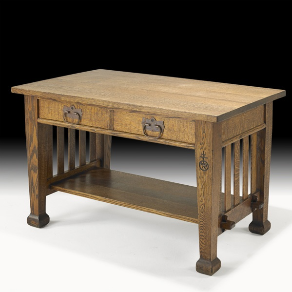 Nice ROYCROFT Two Drawer Library Table
