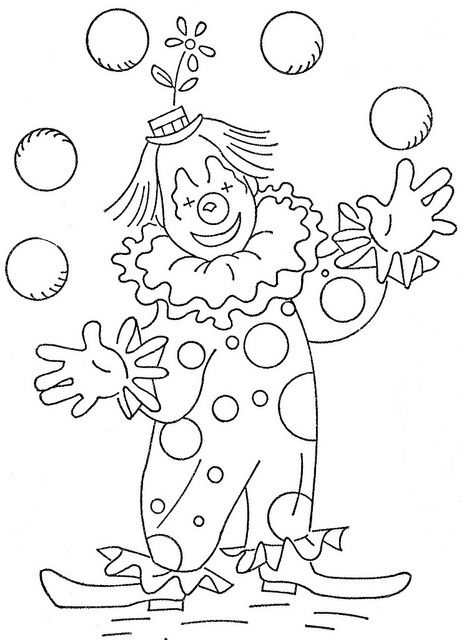 circus theme coloring pages - photo#7