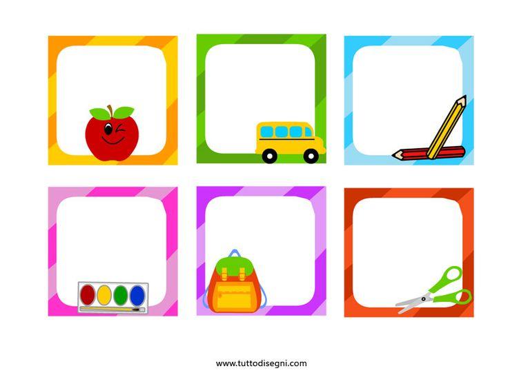 Preferenza Oltre 25 fantastiche idee su Etichette scuola su Pinterest  FR95