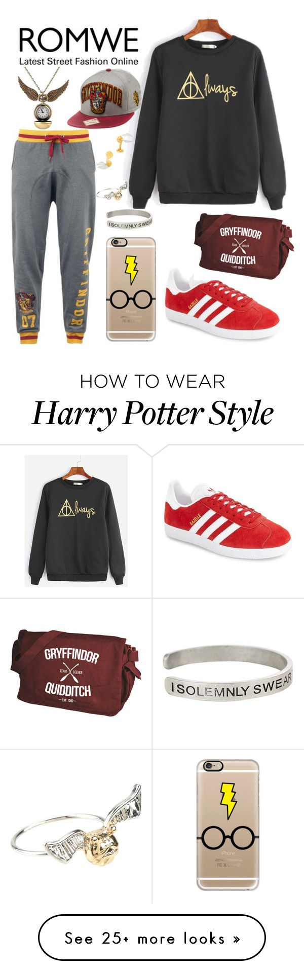 """When ur too much"" by brownstb on Polyvore featuring adidas, Casetify, Warner Bros. and Cufflinks, Inc."