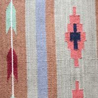 Handwoven Wool Rug - Tribal design, Green, Brown - £205 (6x4ft) Kasakosa Home Decor