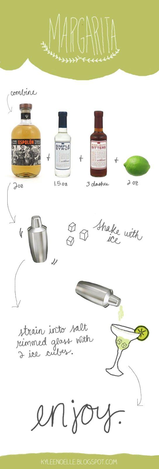 Margarita with Blood Orange Bitters Recipe (Kylee Noelle)