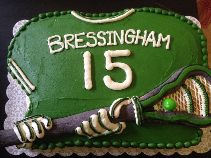 Lacrosse jersey cake