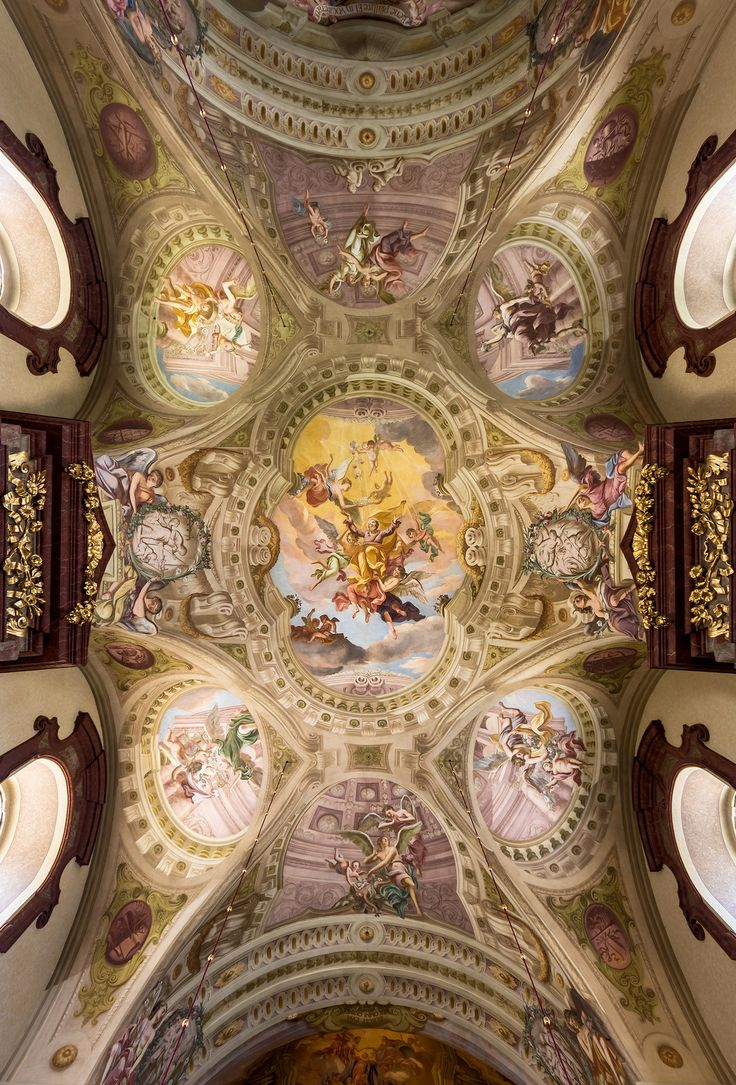 285 best baroque interiors and architecture images on pinterest ceiling fresco in the nave of maria taferl basilica lower austria by antonio beduzzi dailygadgetfo Gallery