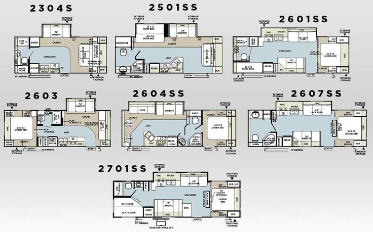 Forest River Rockwood Ultra lite travel trailer floorplans could