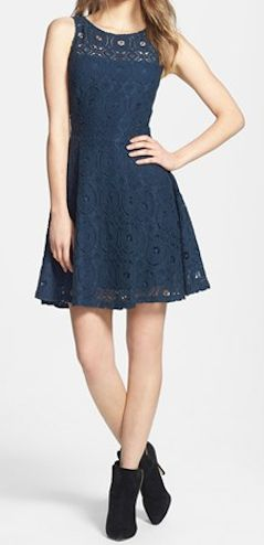 Lace fit & flare dress http://rstyle.me/n/fg6bgnyg6