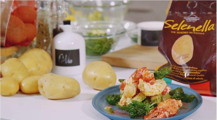 Astice rosolato con Patate Selenella al wasabi e basilico croccante. Scopri tutte le Ricette Selenella per una Cucina Creativa, Genuina e Gustosa!