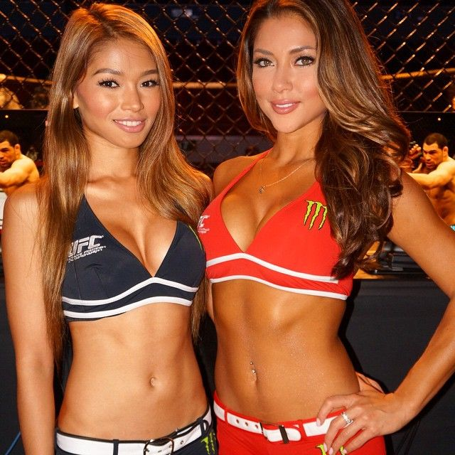Arianny Celeste w/ Red Dela Cruz, Filipino-Chinese ring card girl : if you love #MMA, you'll love the #UFC & #MixedMartialArts inspired fashion at CageCult: http://cagecult.com/mma