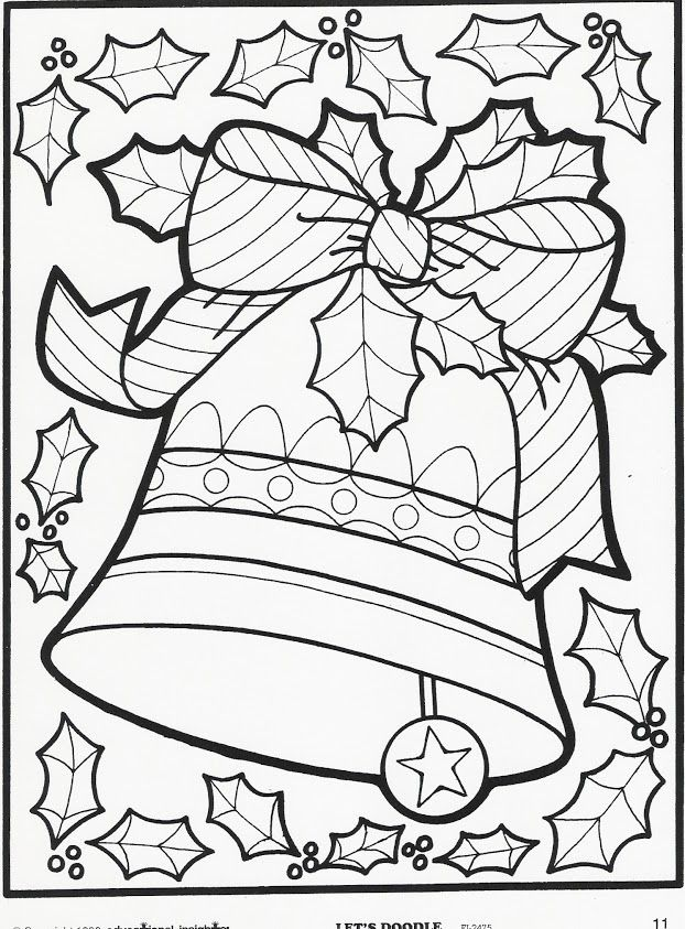 find this pin and more on coloring bells - Art Pages To Color