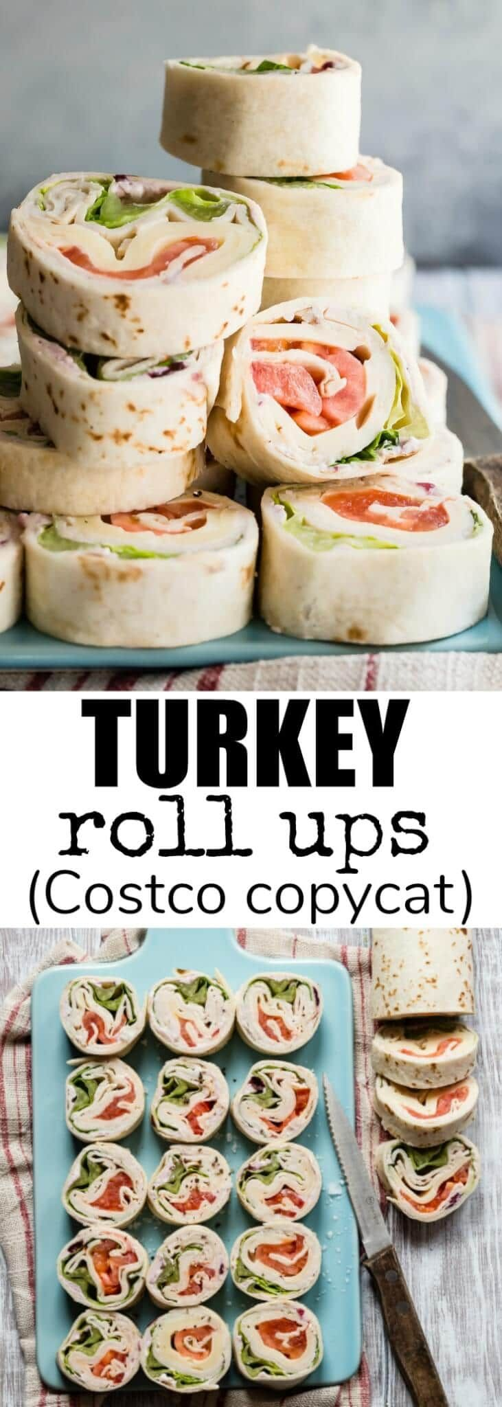 Make your own Turkey Roll Ups at home, just like the ones at Costco. They are so easy to make, cheaper, AND tastier than the store-bought version!
