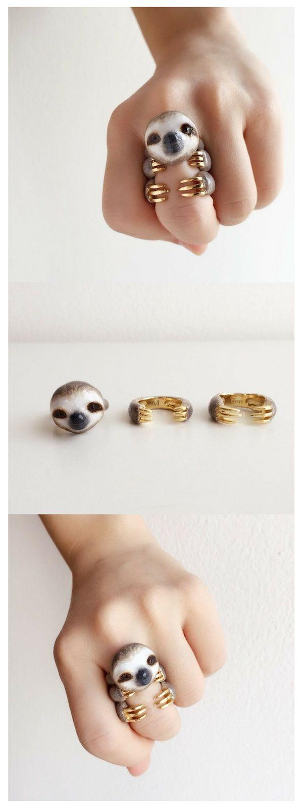 Dieses supersüße Faultier als 3-teiliges Ringset eignet sich perfekt als Geschenk. Doch nicht nur Faultiere auch andere süße Tier Ringe gibt es hier im Shop. Diese handgemachten Ringe sind einfach perfekt als Weihnachtsgeschenk. Der etwas andere Schmuck. This super cute Sloth comes as a 3 piece Ringset and is the perfect handmade gift for Christmas but not only Sloths can be found in the shop. #schmuck #ring #jewlery #ring #accessoires #sloth #faultier #cute #gift