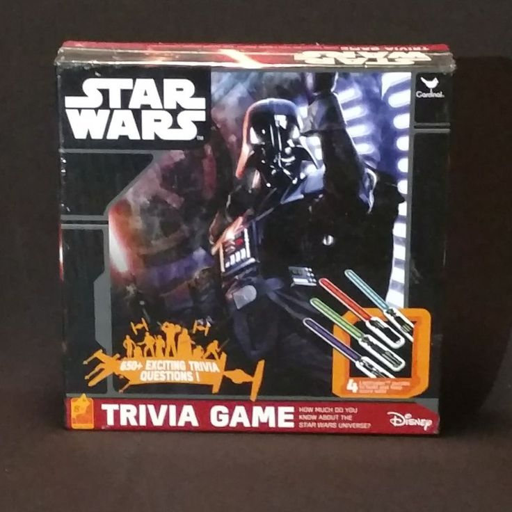 Disney Star Wars Trivia Game New In Box 650+ Trivia Questions Item 18801 #Disney