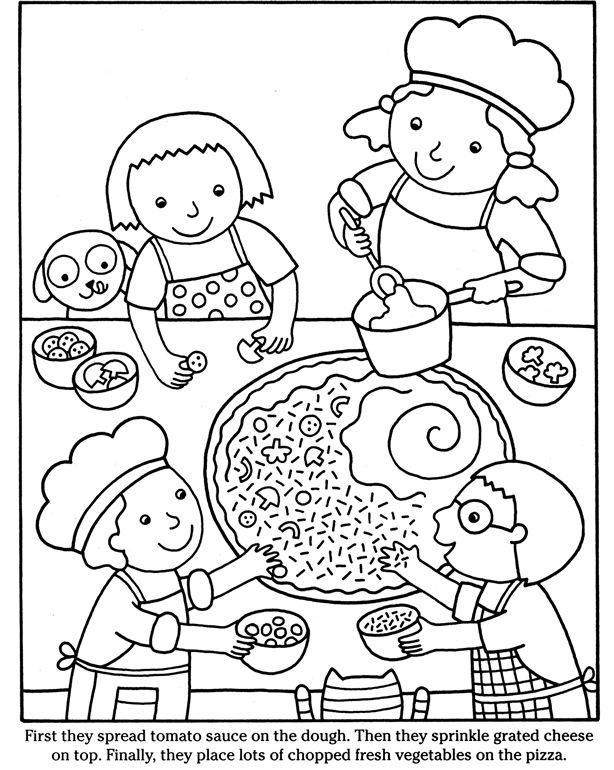 Color & Cook PIZZA Dover Publications Coloring pages 2nd