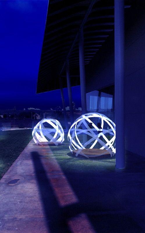 temporary exhibition proposal - night render