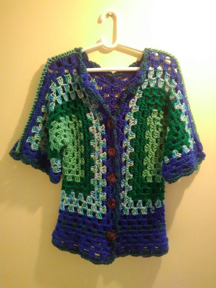 Cardigan Peacock Crochet