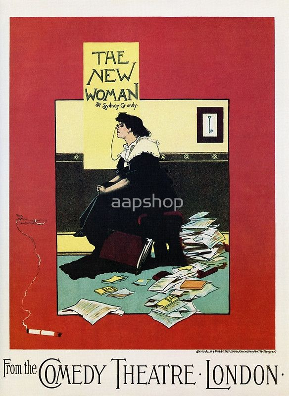 The New Woman, vintage Comedy Theatre london advert