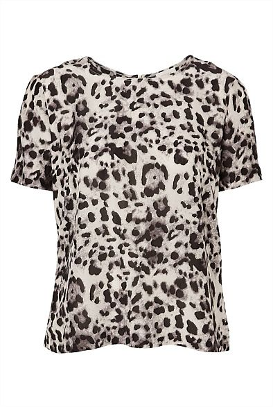 Zip Back Tee - nice strong statement teeshirt that can be worn with white or black or metallic or colour shorts, jeans skirt etc