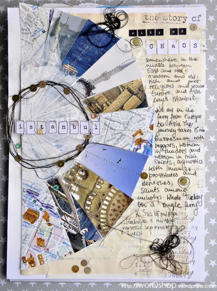 "art journal - istanbul, travel sketchbook - moje chaotyczne miasto ""my chaotic city"""
