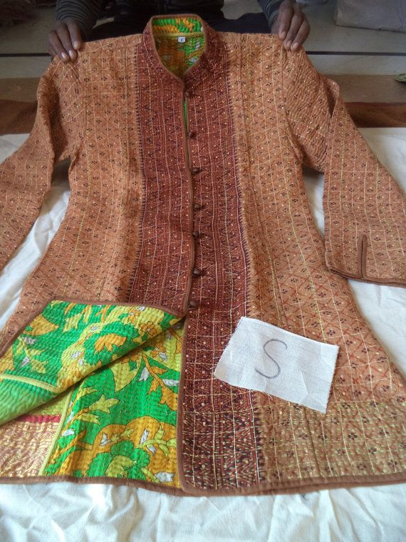 Best kantha jacket india cloth images on pinterest