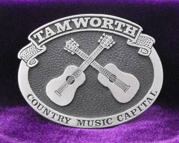 What a great buckle from Tamworth, Australia's Country Music Capital.