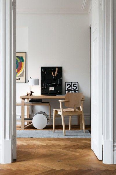 Tea Trolley 901 and Table 82B by Alvar Aalto and Domus chair by Ilmari Tapiovaara from Artek