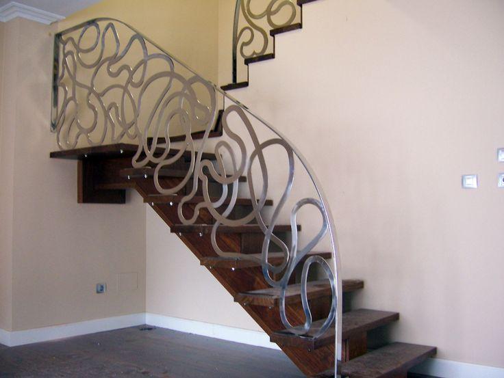 17 mejores ideas sobre barandas para escaleras en - Escaleras de forja interiores ...