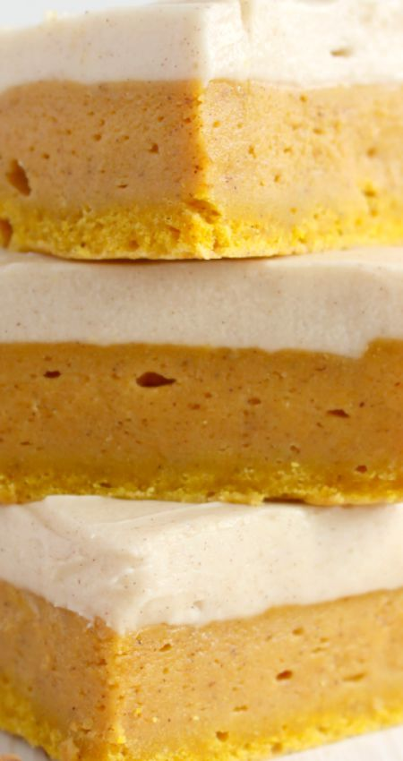 Pumpkin Spice Sugar Cookie Bars ~ Sugar Cookie Bars with a delicious fall twist! Cinnamon cream cheese frosting tops these wonderfully chewy, delicious pumpkin spice treats!