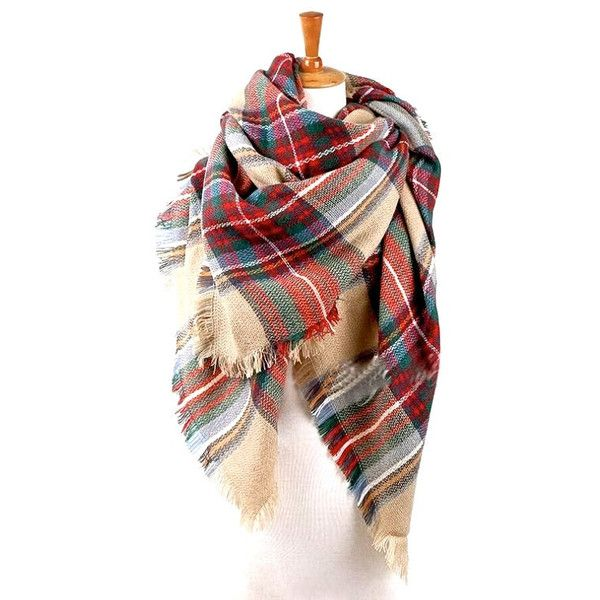 SALE 2 days ONLY - Mother's Day Gift Plaid Blanket Scarf Oversized... ($20) ❤ liked on Polyvore featuring accessories, scarves, wrap scarves, tartan blanket scarf, plaid blanket scarf, tartan scarves and chunky scarves