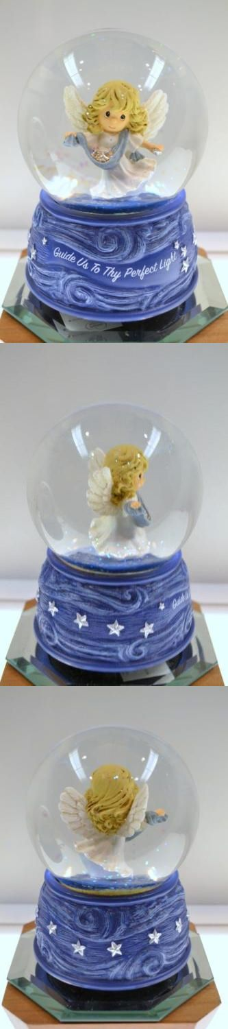 Cherished Teddies Christmas: Precious Moments Angel Guide Us To Thy Musical Snowglobe 161105 Nib Freeusaship BUY IT NOW ONLY: $69.5