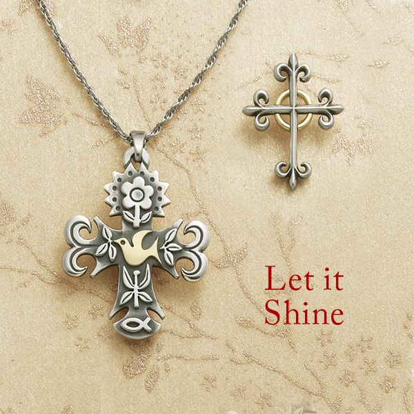 Let your faith shine with our cross designs crafted in sterling silver and highlighted with a touch of gold. #JamesAvery