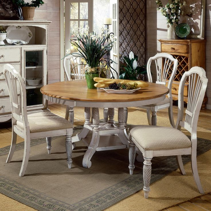 Wilshire 5 Piece Round Dining Table Set By Hillsdale