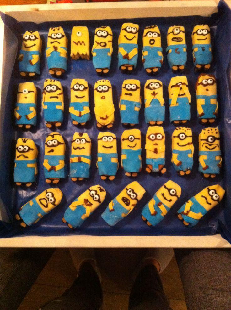 Onze versie van de Minions traktatie! Kids vonden het geweldig!