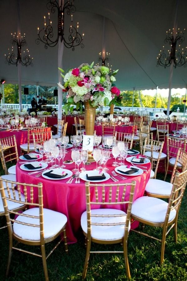 outdoor leesburg wedding at oatlands plantation pink tableclothtablecloth ideasblack