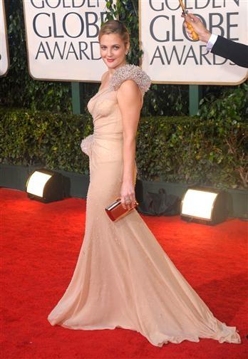 Drew Barrymore, Red Carpet Golden Globes 2010