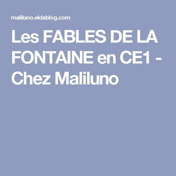 Les FABLES DE LA FONTAINE en CE1 - Chez Maliluno