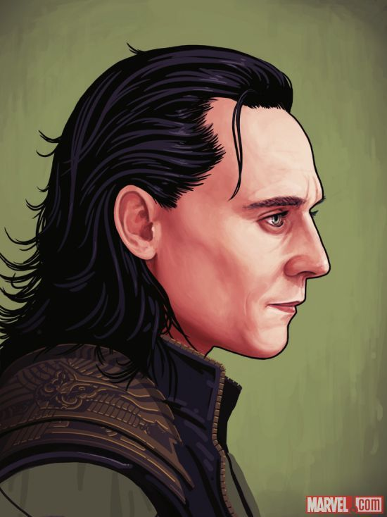 Marvel's Thor: The Dark World poster featuring Loki by Mike Mitchell for Mondo