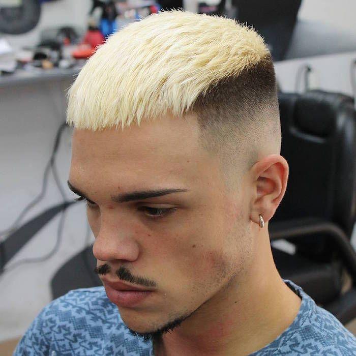 1001 Idees Meche Blonde Pour Homme Une Question De Dosage Coiffure Homme Teinture Blonde Blond Platine Homme