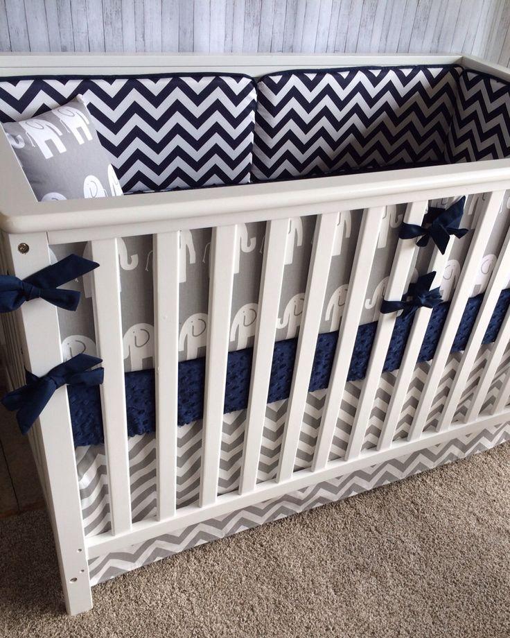 A personal favorite from my Etsy shop https://www.etsy.com/listing/258811438/crib-beddingboy-girl-baby-beddingcrib