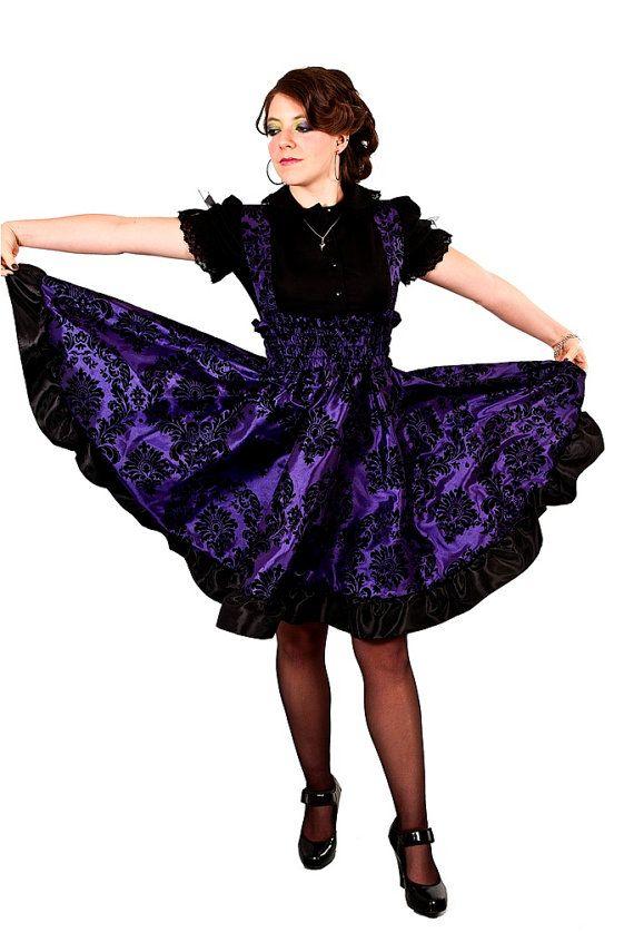 Plus Size Gothic Dress Purple Lolita Jumper Velvet Flock ...