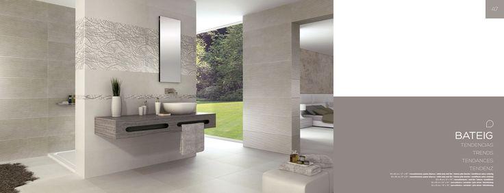 Faianța 30x60 pastă albă sau 20x60, gresia porțelanată 45x45 și varietatea mare de decoruri  fac din Bateig colecția cea mai vândută din portofoliul Azulev (Spania) la Showroom-urile Damila din Craiova si Râmnicu Vâlcea.